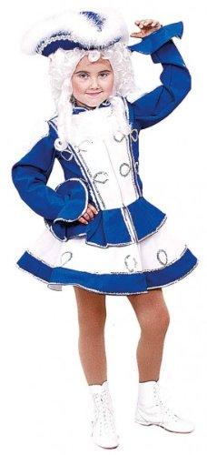 Funkenkostüm blau-weiß mit Silberborte - 1