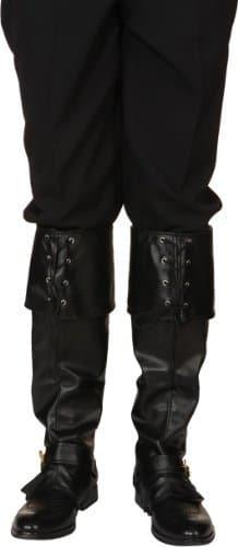 Gamaschen, schwarz, für das Weihnachtsmann-Kostüm oder für den Gestiefelten Kater - 1