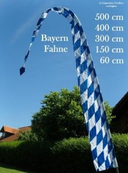 Gartenfahne blau-weiss 5 Meter, Oktoberfest Rautenfahne, F514 - 1
