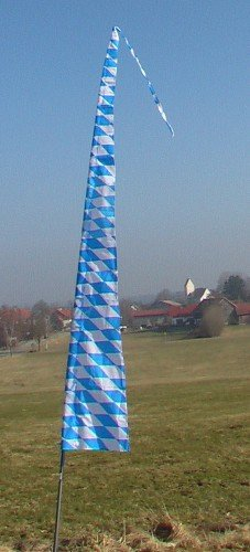Gartenfahne blau-weiss 5 Meter, Oktoberfest Rautenfahne, F514 - 2