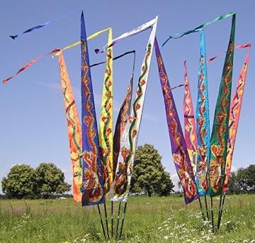 Gartenflagge schwarz 5 Meter, Gartendeko Geschenke, F509 - 3