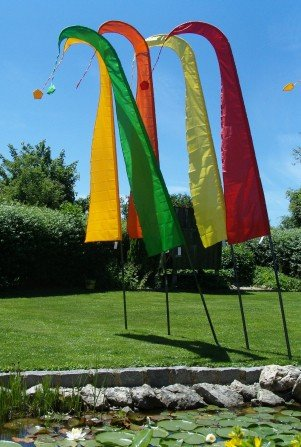 Gartenflagge schwarz 5 Meter, Gartendeko Geschenke, F509 - 4