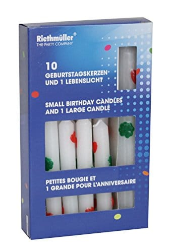 Geburtstagskerzen: 1 Lebenslicht und 10 Kerzen für Geburtstagsringe - 1