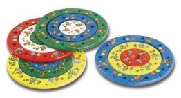 Geburtstagsringe, dreiteiliges Set, Holz, ca. 20 cm Durchmesser, farblich sortiert - 1