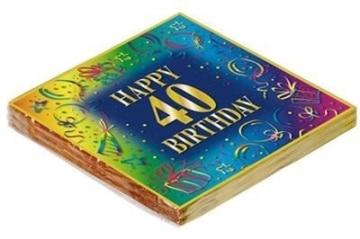 GeburtstagsServietten 40. 20er-Pack, RESTPOSTEN - 1