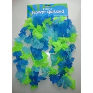 """Girlande: Blumengirlande """"Hawaii"""", Textil, kühle Farben, 365 cm - 1"""