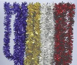 Girlande: Foliengirlande, blau, 3 m Länge, 7 cm Durchmesser - 1