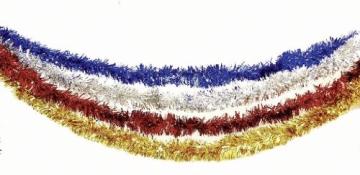 Girlande: Foliengirlande, gold, 10 m Länge, 10 cm Durchmesser - 1