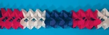 Girlande in blau-weiß-rot, 4 Meter - 1
