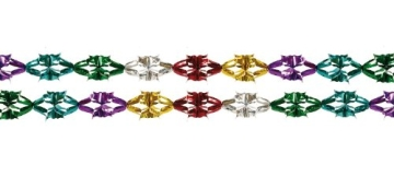 Girlande: Mini-Foliengirlande, bunt, 2,5 m Länge, 2er-Pack - 1