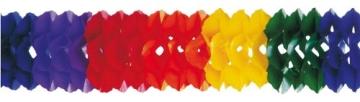 Girlande: Regenbogen-Girlande, 16 cm Durchmesser, 10 m Länge - 1