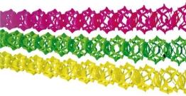 Girlanden-Set: Neon-Girlanden, 12 cm Durchmesser, 4 m Länge, 3er-Pack - 1