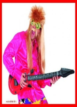Gitarre: Luftgitarre, rot - 1