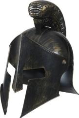 Gladiator-Kostüm: Helm, bronzefarben - 1