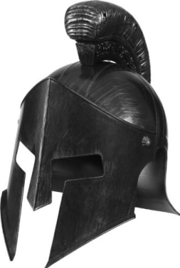 Gladiator-Kostüm: Helm, silber - 1