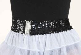 Gürtel: Paillettengürtel, schwarz - 1