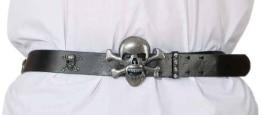 Gürtel: Totenkopf-Motiv mit Schnalle, 95 cm - 1