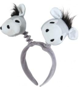 Haarreif, grau, mit Eselköpfen - 1