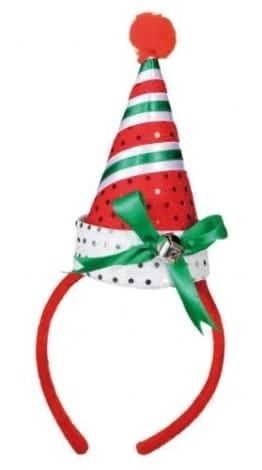 Haarreif, Jingle Bells, mit Weihnachtsmütze - 1