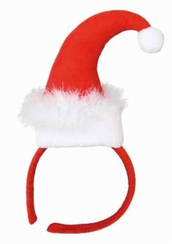 Haarreif, Miss Santa, mit Weihnachtsmütze - 1