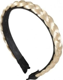 Haarreif, mit geflochtenem Zopf, blond - 1