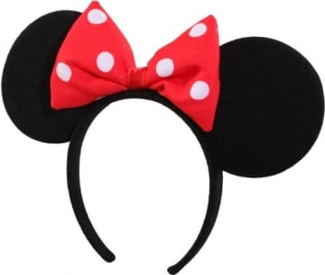 Haarreif mit Schleife, rot-weiß für Kinder, kleines Mäuschen - 1