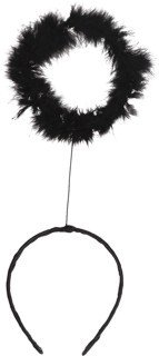 Haarschmuck: Haarreif mit Heiligenschein, schwarz - 1