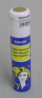Haarspray, goldener Glitter, auswaschbar, 100 ml - 1