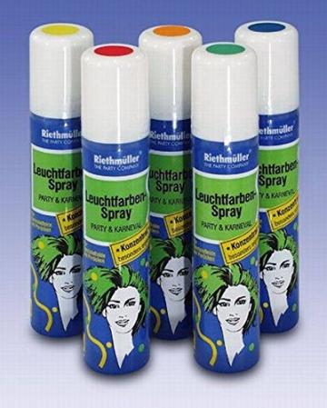 Haarspray: Leuchtfarben-Haarspray, blau fluoreszierend, 100 ml - 1