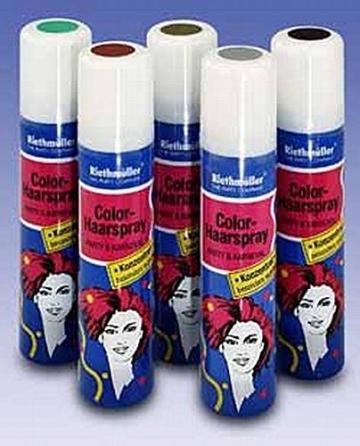 Haarspray, rot, auswaschbar, 100 ml - 1
