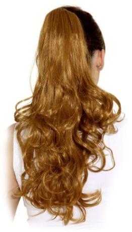 Haarteil: Ansteckhaare mit Kamm, gelockt, 50 cm, verschiedene Farben - 1