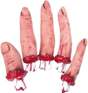 Halloween-Deko: abgerissener Finger, 5 Stück - 1