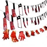 Halloween Deko blutige Werkzeuge und Körperteile 32 Teile 1