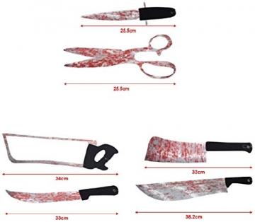 Halloween Deko blutige Werkzeuge und Körperteile 32 Teile 5