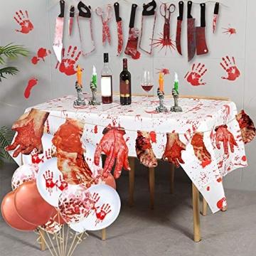 Halloween Deko blutige Werkzeuge und Körperteile 32 Teile 7