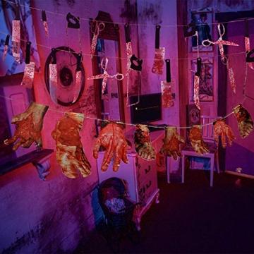 Halloween Deko blutige Werkzeuge und Körperteile 32 Teile 8