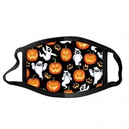 Halloween Mundschutz Kürbis und Geister