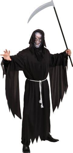 Hallowen-Kostüm: Sensenmann, Umhang mit Flatterärmeln, Einheitsgröße - 1
