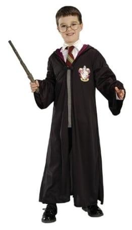 Harry Potter Set, Robe mit Brille und Zauberstab Verkleidung - 1