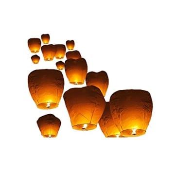 Heissluftballon - Lampions - Glücksballon - Himmellaternen - 10 Stück - 1