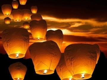 Heissluftballon - Lampions - Glücksballon - Himmellaternen - 10 Stück - 2