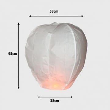 Heissluftballon - Lampions - Glücksballon - Himmellaternen - 10 Stück - 4