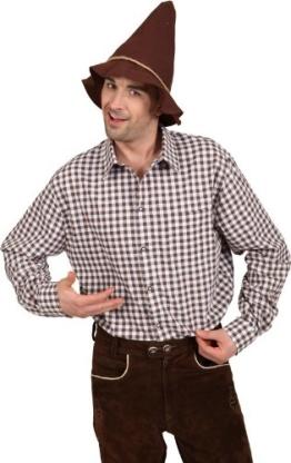 Hemd, braun-weiß kariert, verschiedene Größen - 1