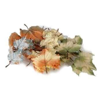 Herbstblätter aus Kunstseide 72 Stk. 12cm - 1