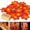 Herbstdeko Ahornblätter Lichterkette LED Blättergirlande 1