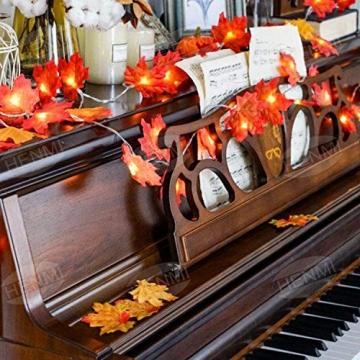 Herbstdeko Ahornblätter Lichterkette LED Blättergirlande 5