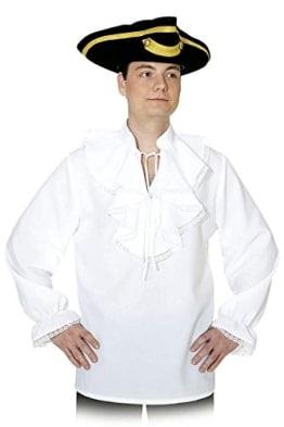 Herrenhemd weiß mit Rüschen – Baronhemd - 1