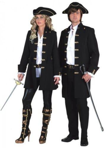Herrenjacke schwarz de Luxe für Piraten - 2