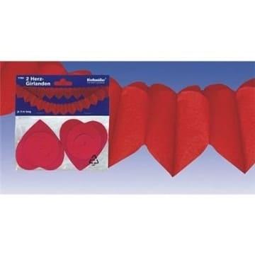 Herz-Girlande, 2 Stück, rot - 1