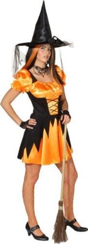 Hexe Leila orange-schwarz - 1